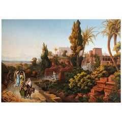 Georges Och, the Flight into Egypt, Salon of 1848, Monumental Painting