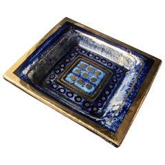 Georges Pelletier Blue Vide-Poche or Decorative Dish, France