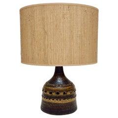 Georges Pelletier Ceramic Table Lamp, circa 1970, France