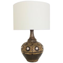 Georges Pelletier Large Ceramic Table Lamp, circa 1970, France