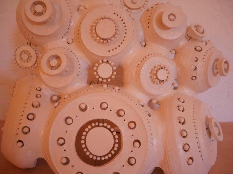 Georges Pelletier Sculpture Lamp in White Enameled Ceramic 5