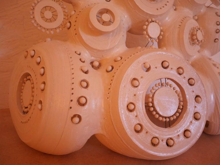 Georges Pelletier Sculpture Lamp in White Enameled Ceramic 6