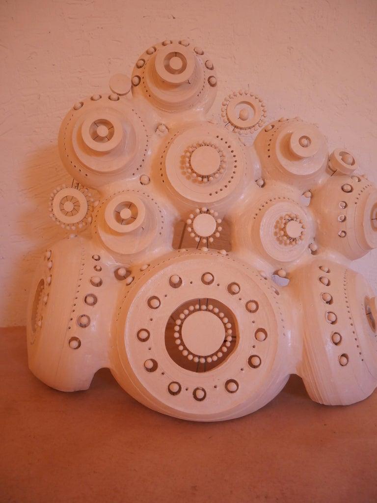 Georges Pelletier Sculpture Lamp in White Enameled Ceramic 7