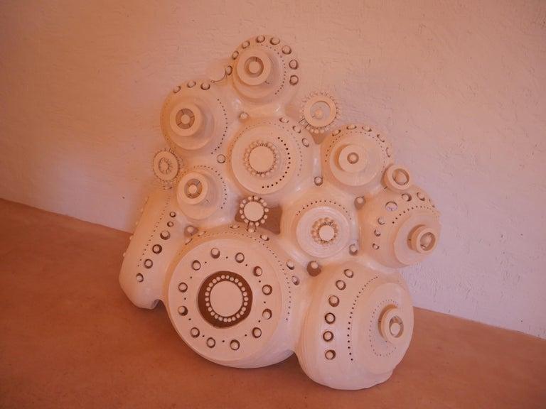 Georges Pelletier Sculpture Lamp in White Enameled Ceramic 8