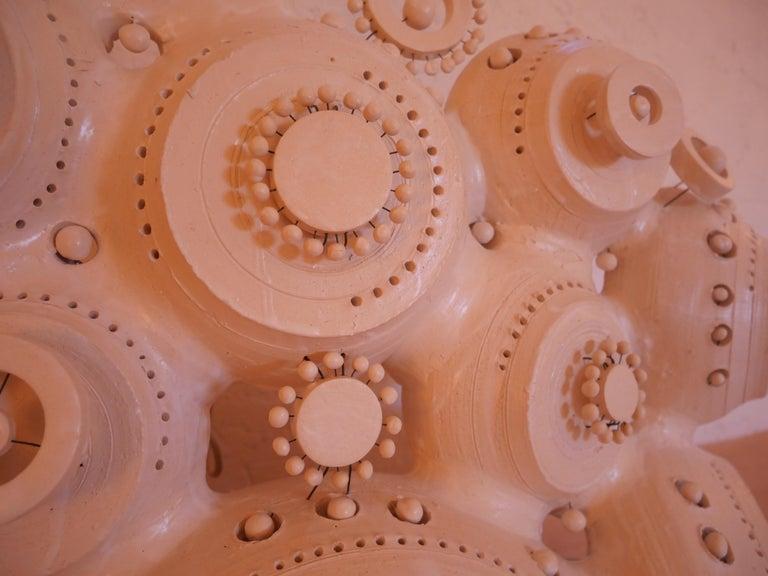 Georges Pelletier Sculpture Lamp in White Enameled Ceramic 2