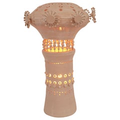 Georges Pelletier Sputnik Table Lamp in White Enameled Ceramic, France, 2020