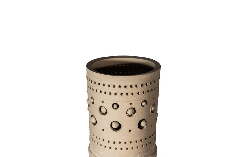 Mid-Century Modern Georges Pelletier, TOTEM Floor Lamp, Ceramic, Signed, France, circa 1970 For Sale