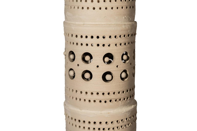 French Georges Pelletier, TOTEM Floor Lamp, Ceramic, Signed, France, circa 1970 For Sale