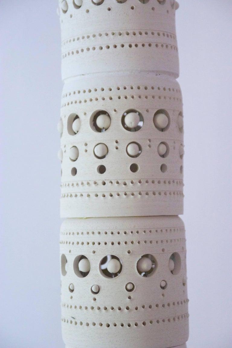 Georges Pelletier, TOTEM Floor Lamp, Unglazed Ceramics, circa 1970, France For Sale 2