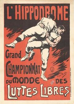 L'Hippodrome Granbd Championnat du Monde Luttes Libres original original poster
