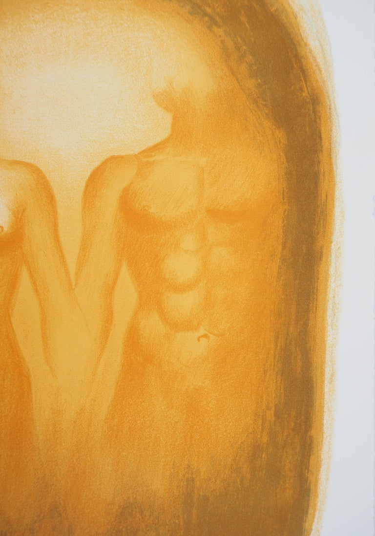 Georges ROHNER Lover : the lovers, 1966  Original lithograph Handsigned in pencil On Auvergne vellum 37 x 28 cm (c. 15 x 11 inch)  Excellent condition