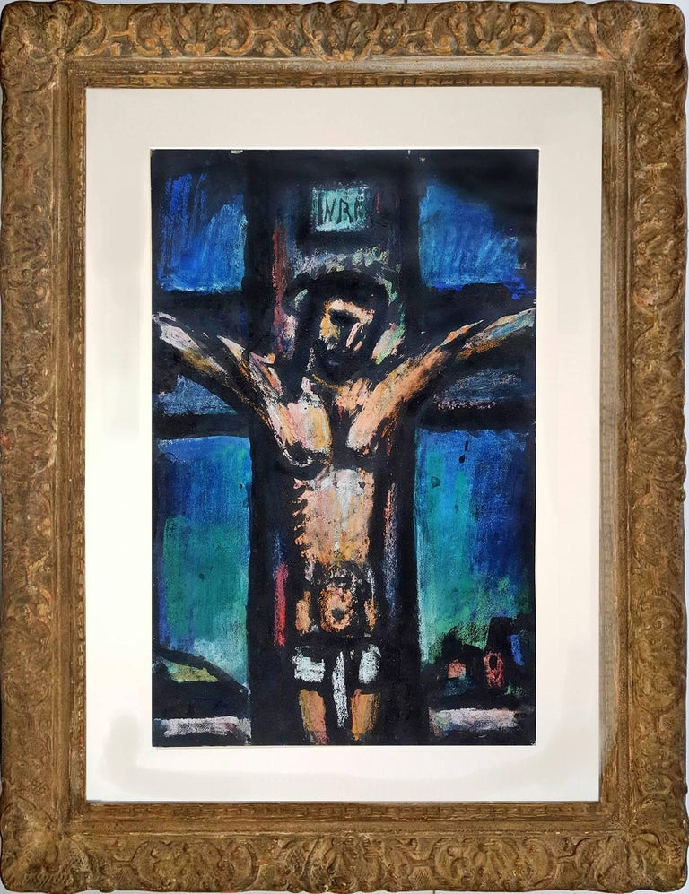 Crucifixion:  from the The Lewisohn Collection - Painting by Georges Rouault
