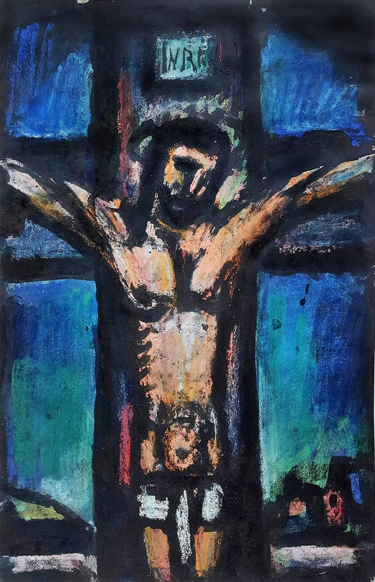 Georges Rouault Portrait Painting - Crucifixion:  from the The Lewisohn Collection