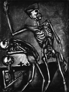 Debout les Morts - Original Etching and Aquatint by G. Rouault - 1948