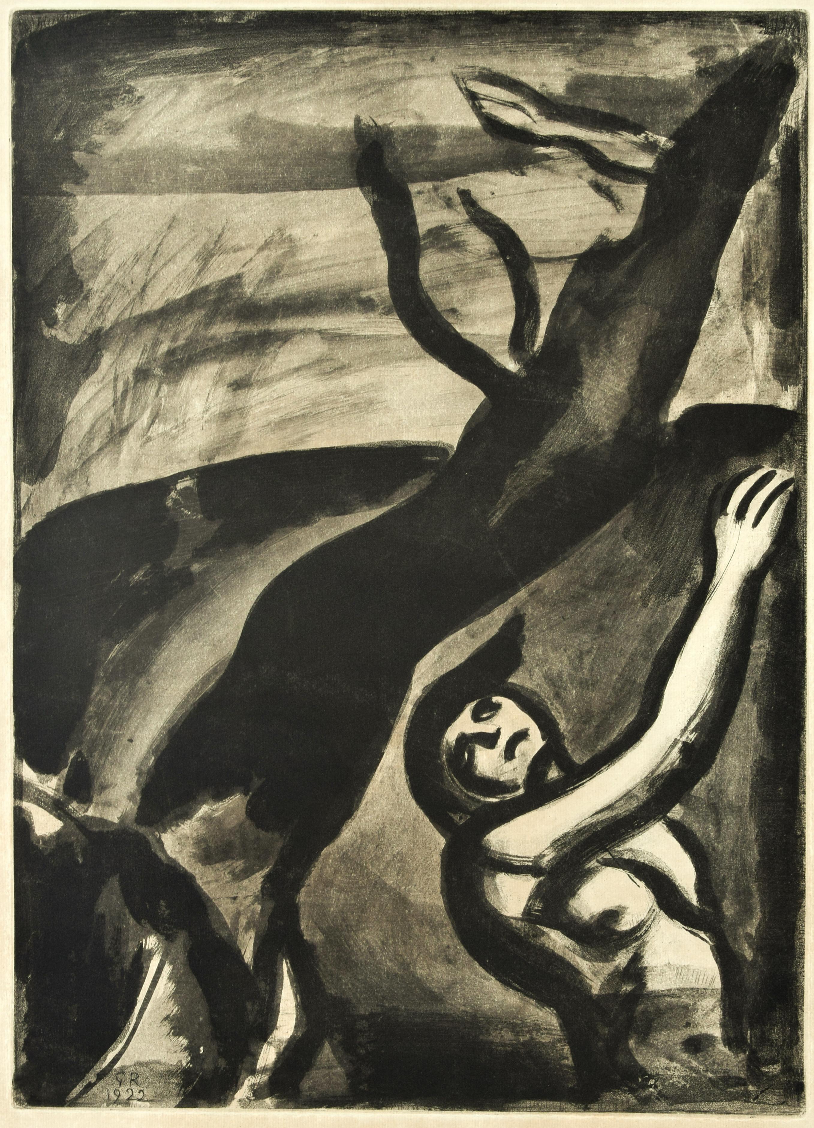 Demain Sera Beau Disait le Naufragé - Original Etching by G. Rouault - 1948