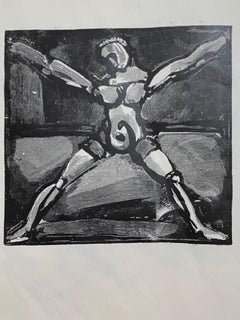 Figure - Original Woodcut by George Rouault - 1938