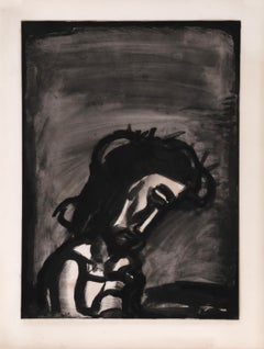 Jesus Reviled from Miserere, Aquatint by Georges Rouault 1923