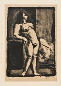 La Fille - Original Lithograph by Georges Rouault