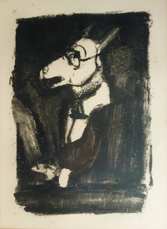L'Ane - Original Etching and Aquatint by G. Rouault - 1927