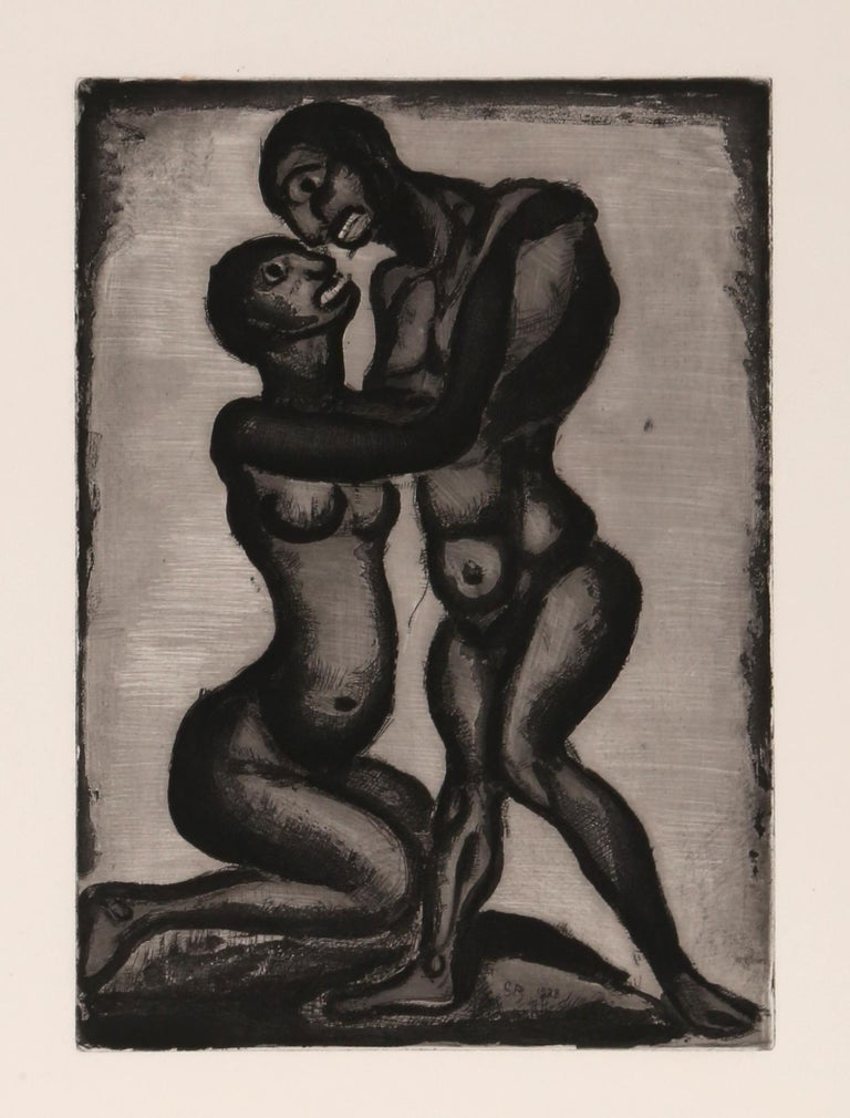 Georges Rouault Nude Print - Les Amants from Le Reincarnations du Pere Ubu