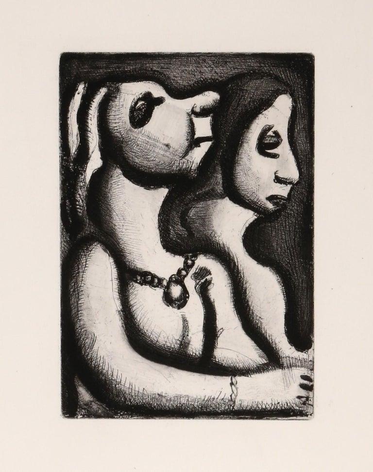 Georges Rouault Figurative Print - Les Deux Matrones from Le Réincarnations du Père Ubu