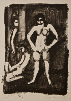 Models - Original Lithograph by Georges Rouault - 1950s