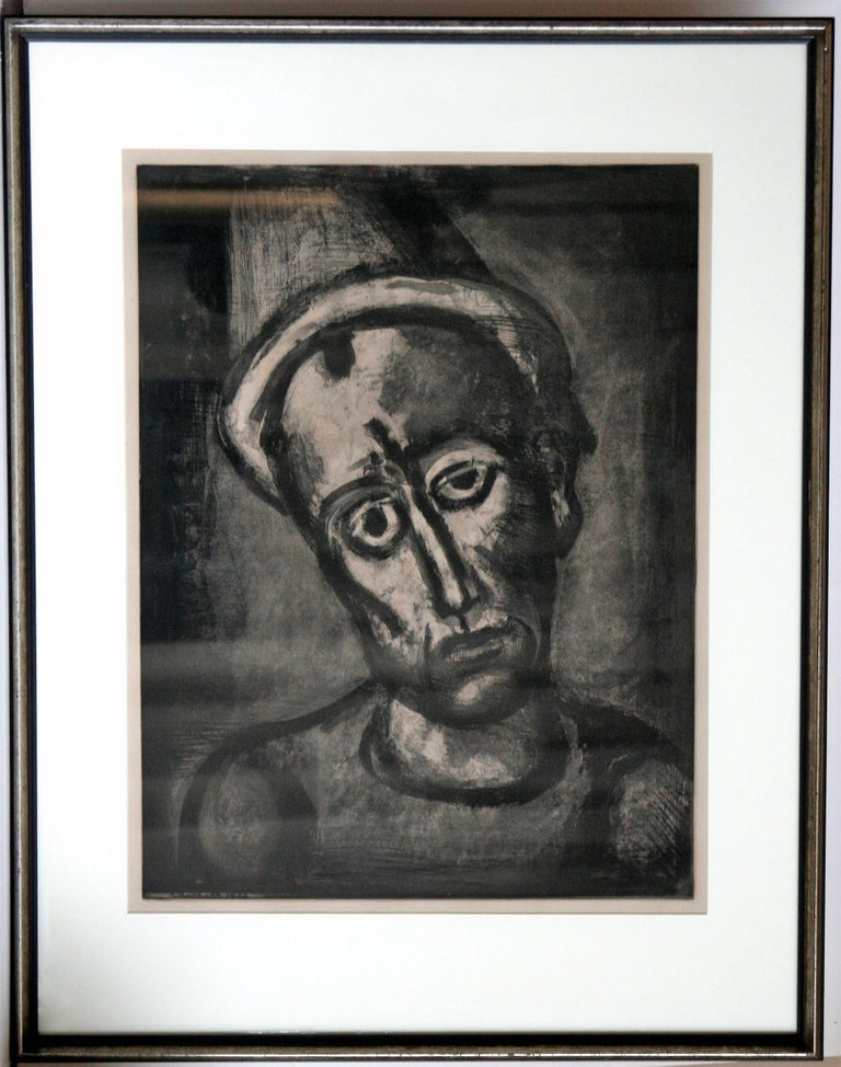 Qui ne se Grime Pas?(Who Does Not Wear a Mask?) - Modern Print by Georges Rouault