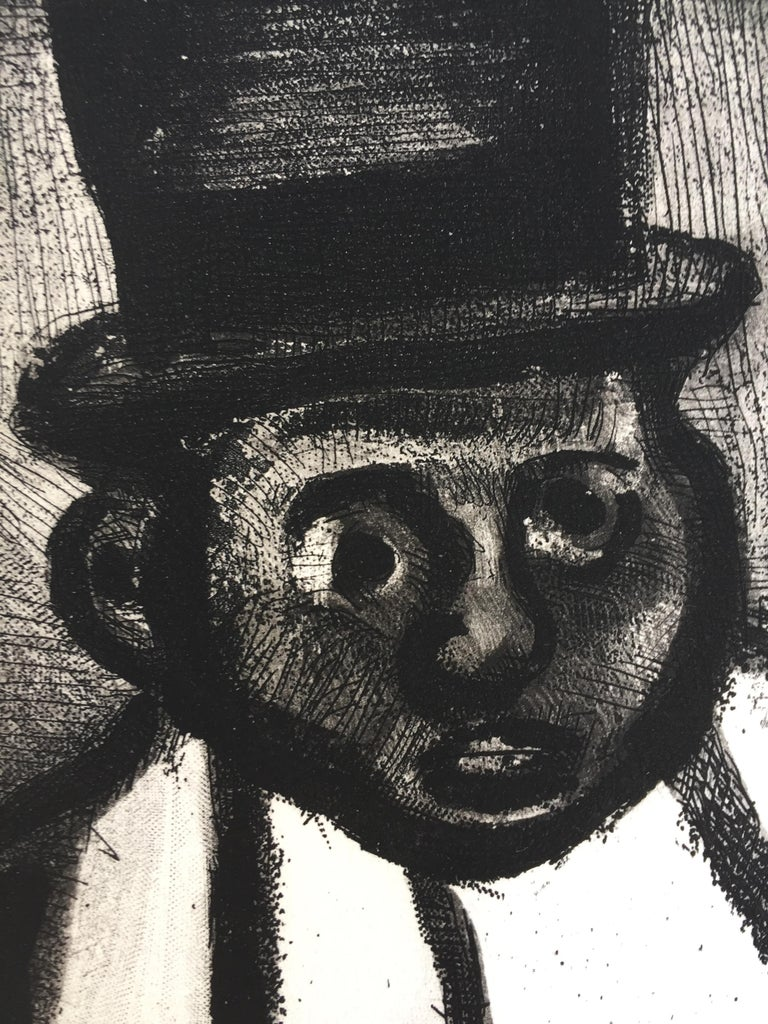 THE GOOD CANDIDATE - from Reincarnations - Pere Ubu - Black Figurative Print by Georges Rouault