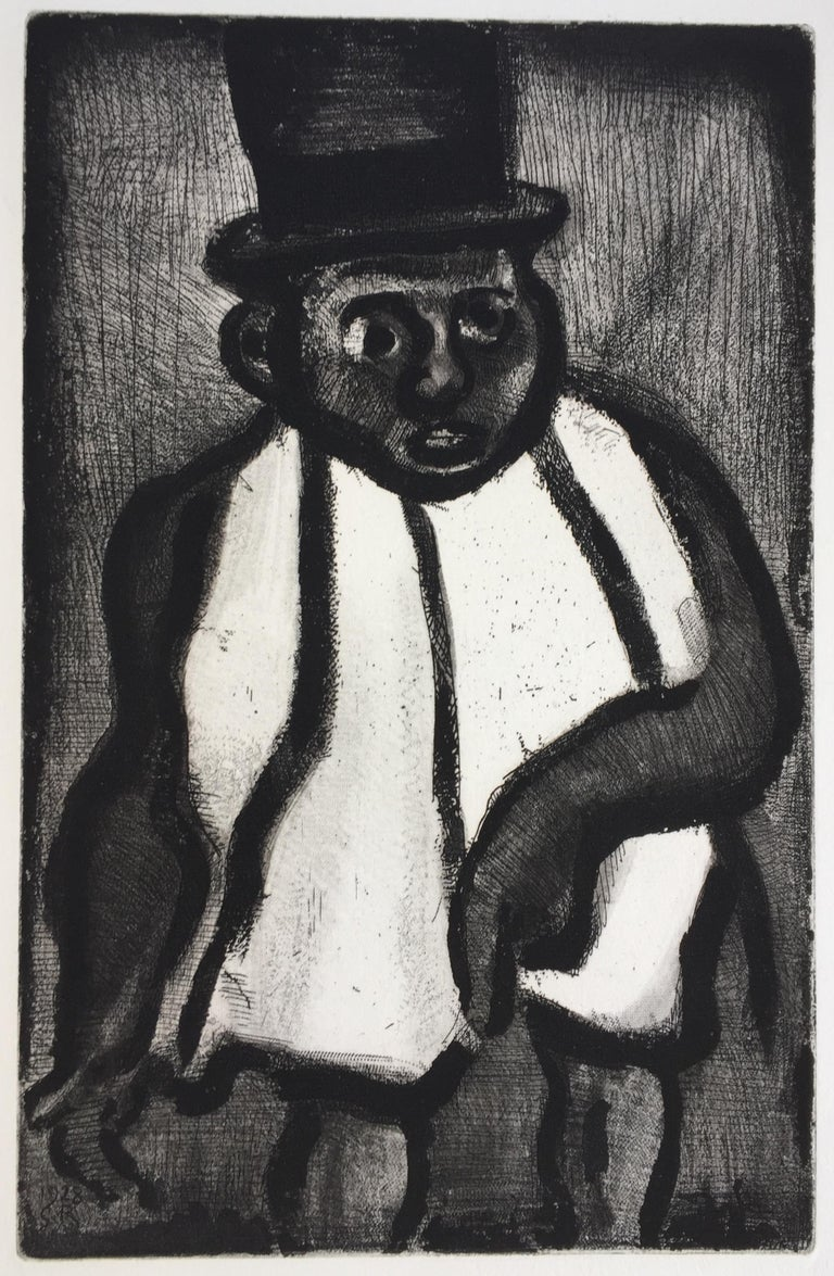 """GEORGES ROUAULT (1871 -1958)            THE GOOD CANDIDATE, BOUDOUBABABU, 1928 (Chapon & Rouault 10)           Etching, aquatint and roulette. From """"Reincarnations du Pere Ubu"""" Initialed and              dated in the plate, lower left corner."""