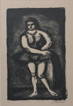 The Horsewoman - Original Lithograph by G. Rouault - 1926