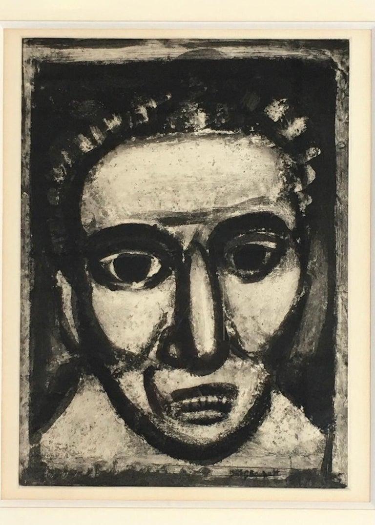 Modern Georges Rouault - Satan III, 1926 - Engraving For Sale