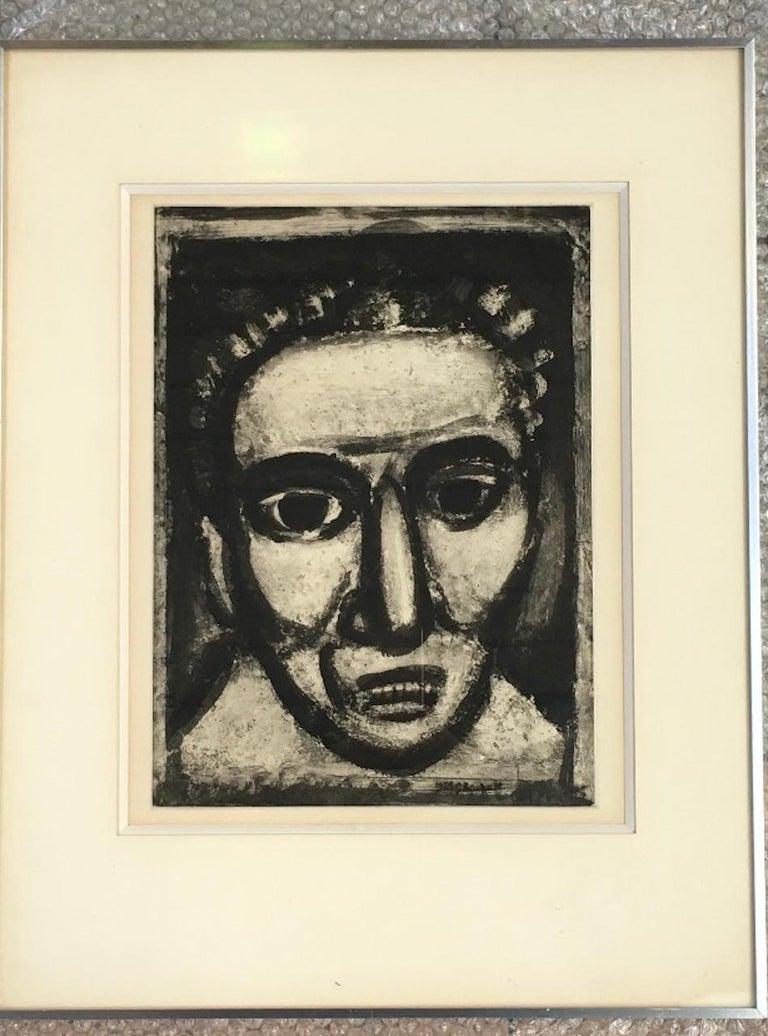 European Georges Rouault - Satan III, 1926 - Engraving For Sale