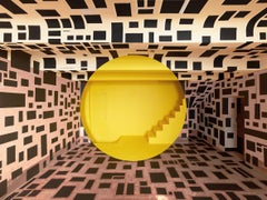 Architecture, construction, geometry, stairs, yellow and black, Rognes 2
