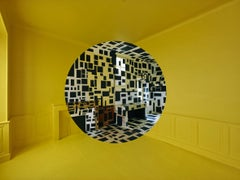 Architecture, yellow and black, construction, Rognes 2
