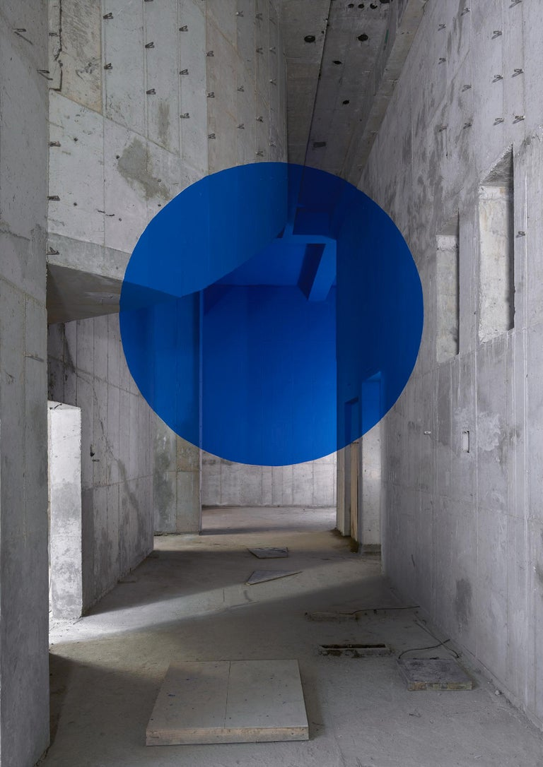 French artist and photographer Georges Rousse, b. 1947, converts abandoned or soon-to-be-demolished buildings into surprising visions of color and shape.  Rousse translates his intuitive, instinctual readings of space into masterful images of
