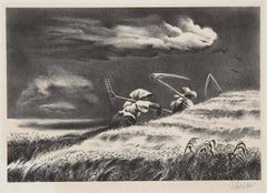 Going Home, Lithograph by Georges Schreiber