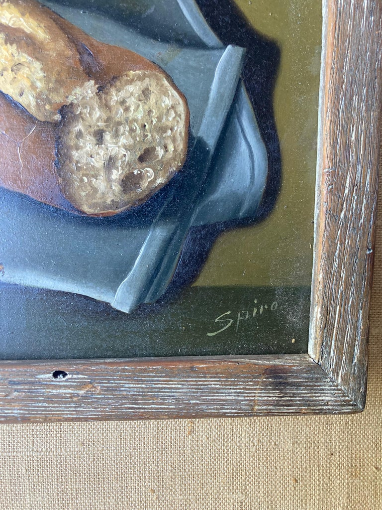 French Georges Spiro, Oil on Board Painting, Still Life/ Surrealist For Sale