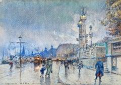 Evening - Quai Louis XVIII - Bordeaux - Impressionist Cityscape by G Stein