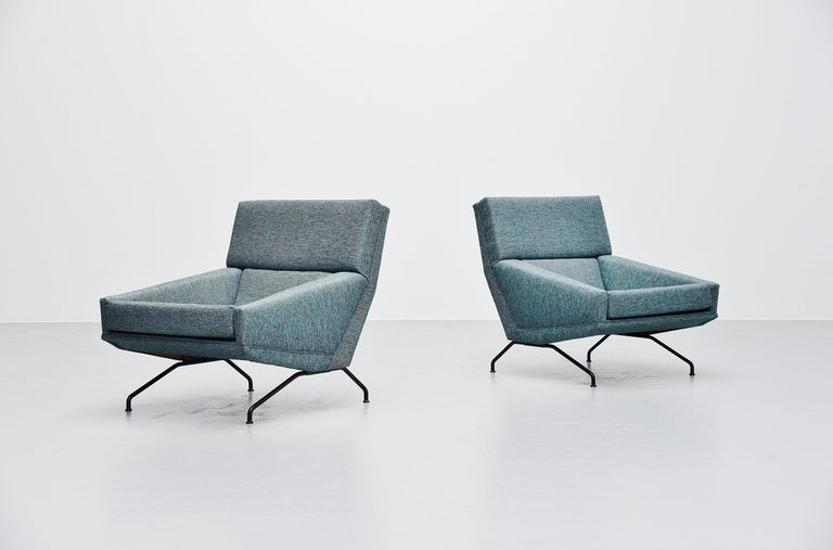 Georges van Rijck Lounge Chairs Beaufort Belgium 1960 For Sale 2