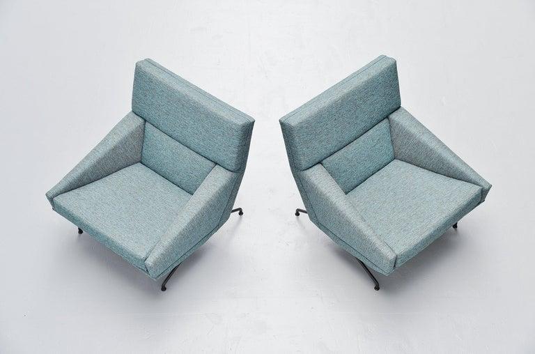 Mid-Century Modern Georges van Rijck Lounge Chairs Beaufort Belgium 1960 For Sale