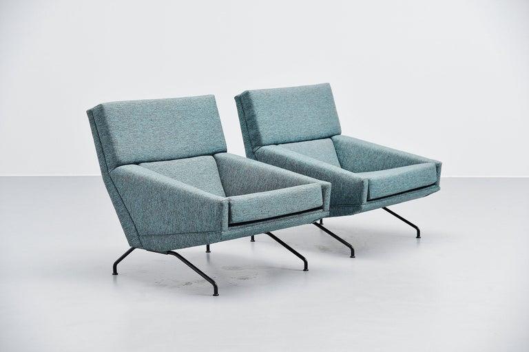 Belgian Georges van Rijck Lounge Chairs Beaufort Belgium 1960 For Sale