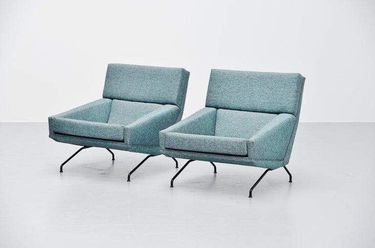 Georges van Rijck Lounge Chairs Beaufort Belgium 1960 In Good Condition For Sale In Roosendaal, Noord Brabant