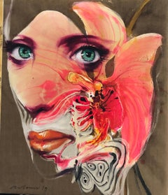 Orchid Woman: Contemporary Figurative Painting