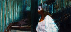 I Spit on Your Angst - Original Oil Painting on Panel with Nude Woman