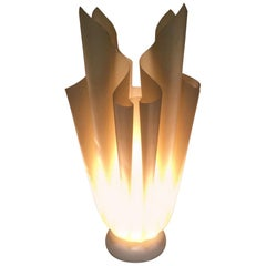 Georgia Jacob, Ophélie Flaming Torch Lamp in Resin on a Marble Base, circa 1970