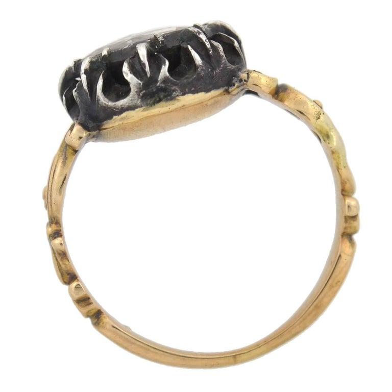 Georgian 1.00 Carat Old Rose Cut Diamond Ring For Sale 1