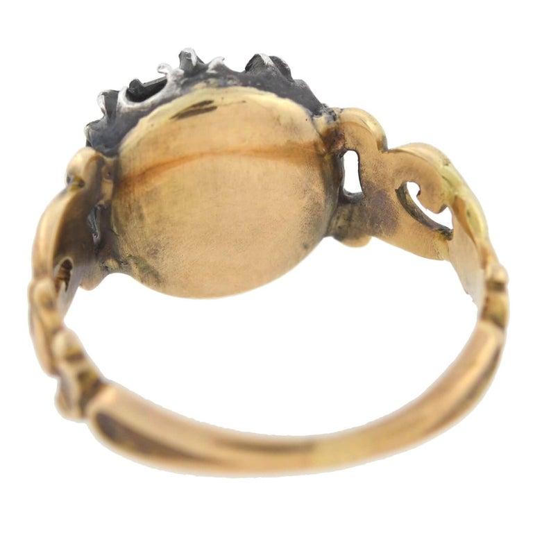 Georgian 1.00 Carat Old Rose Cut Diamond Ring For Sale 2
