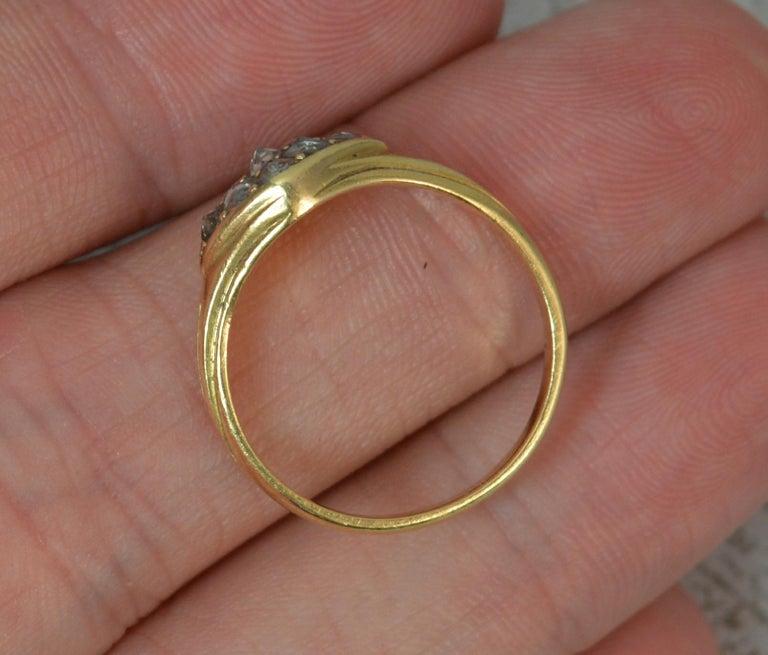 Women's Georgian 18 Carat Gold Rose Cut Diamond Cluster Ring For Sale