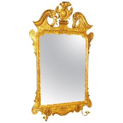 Georgian 18th Century Carved Gilt Wall Mirror