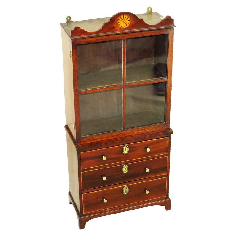 Georgian 18th Century Mahogany Miniature Bookcase